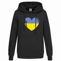 Женская толстовка Сердце України - FatLine