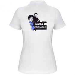 Женская футболка поло Sherlock (Шерлок Холмс) - FatLine