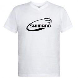 Мужская футболка  с V-образным вырезом Shimano - FatLine
