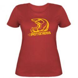 Женская футболка Шлем Мотокросс - FatLine
