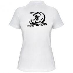 Женская футболка поло Шлем Мотокросс - FatLine