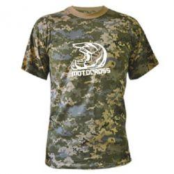 Камуфляжная футболка Шлем Мотокросс - FatLine