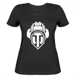 Женская футболка Шлем WOT - FatLine