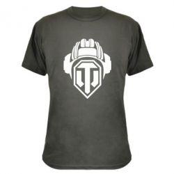Камуфляжная футболка Шлем WOT - FatLine