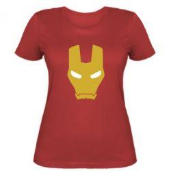 Женская футболка Шлем Железного Человека - FatLine