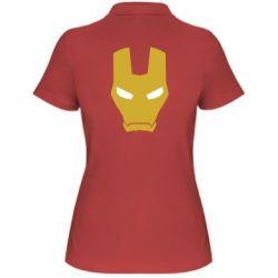 Женская футболка поло Шлем Железного Человека - FatLine