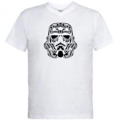 Мужская футболка  с V-образным вырезом Штурмовик Арт - FatLine