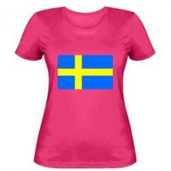 Женская футболка Швеция - FatLine