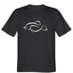 Мужская футболка Силуэт рыбы - FatLine
