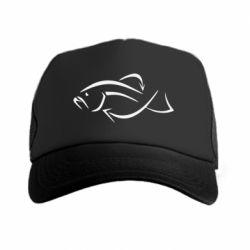 Кепка-тракер Силуэт рыбы - FatLine