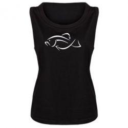 Женская майка Силуэт рыбы - FatLine