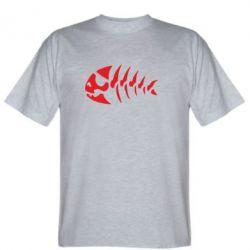 Мужская футболка скелет рибки - FatLine