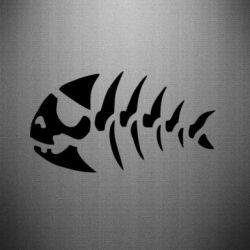 Наклейка скелет рибки - FatLine