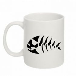 Кружка 320ml скелет рыбки - FatLine