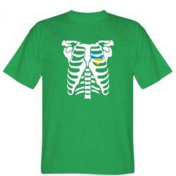 Мужская футболка Скелет з сердцем Україна - FatLine