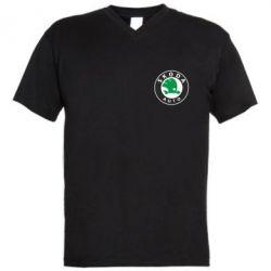 Мужская футболка  с V-образным вырезом Skoda Small - FatLine