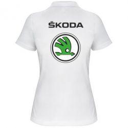Женская футболка поло Skoda - FatLine