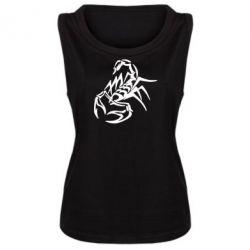 Женская майка скорпион 2