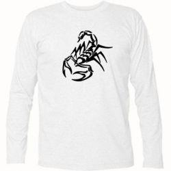 Футболка с длинным рукавом скорпион 2 - FatLine