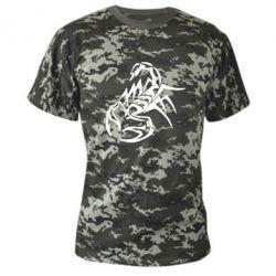 Камуфляжная футболка скорпион 2 - FatLine