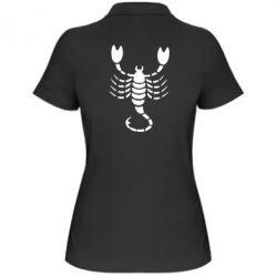 Жіноча футболка поло скорпіон - FatLine