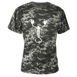 Камуфляжна футболка скорпіон - FatLine