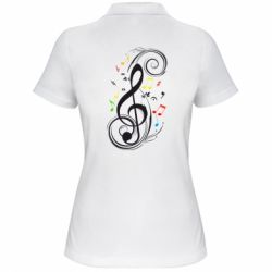 Женская футболка поло Скрипичный ключ - FatLine