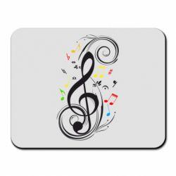 Коврик для мыши Скрипичный ключ - FatLine