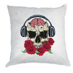 Подушка Skull and roses - FatLine