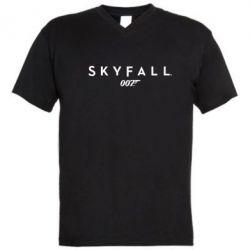 Мужская футболка  с V-образным вырезом Skyfall 007 - FatLine