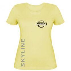 Женская футболка Skyline Logo (Nissan) - FatLine