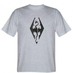 Мужская футболка Skyrim Logo 3D - FatLine
