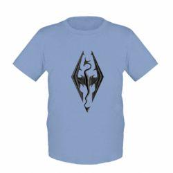 Детская футболка Skyrim Logo 3D - FatLine