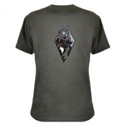 Камуфляжная футболка Skyrim Logo - FatLine
