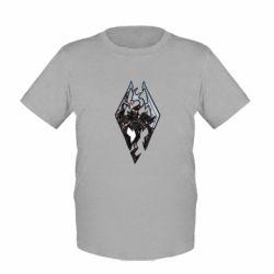 Детская футболка Skyrim Logo - FatLine