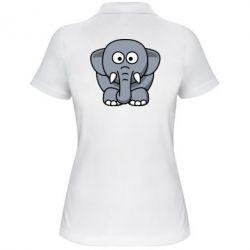 Женская футболка поло Слоник - FatLine
