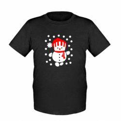 Детская футболка Снеговик в шапке - FatLine