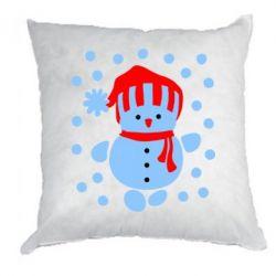 Подушка Снеговик в шапке - FatLine