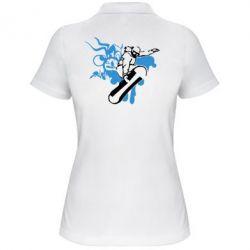 Женская футболка поло Сноуборд - FatLine