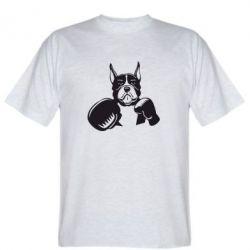 Мужская футболка Собака в боксерских перчатках - FatLine