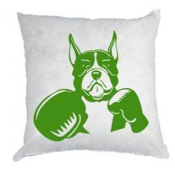 Подушка Собака в боксерских перчатках - FatLine