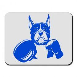 Коврик для мыши Собака в боксерских перчатках - FatLine
