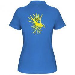 Женская футболка поло Сокіл та герб України - FatLine