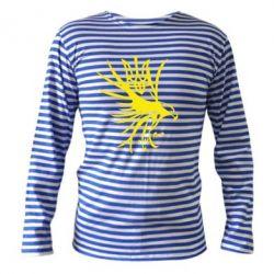 Тельняшка с длинным рукавом Сокіл та герб України - FatLine