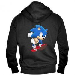 Мужская толстовка на молнии Sonic 3d - FatLine