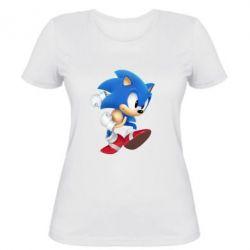 Женская футболка Sonic 3d - FatLine