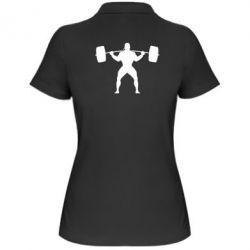 Женская футболка поло Спортсмен со штангой - FatLine