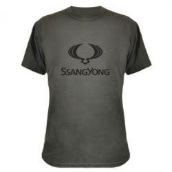 Камуфляжная футболка SsangYong Logo - FatLine