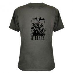 Камуфляжная футболка Stalker Logo - FatLine