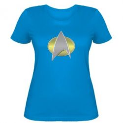 Женская футболка Star Trek Gold Logo - FatLine